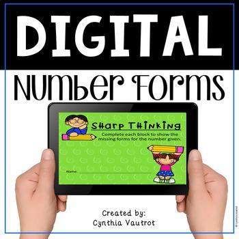 Number Forms Digital Activity with Google Slides