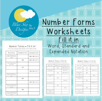Number Forms: Fill it in!