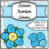 Number Forms - Flower Number Forms