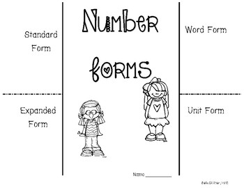Number Forms Foldable