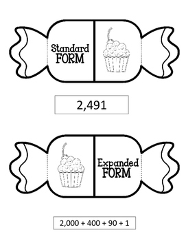 Number Forms Foldable. Interactive Notebook. Standard Expanded Word Form