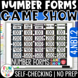 Number Forms Game Show | 4th Grade 4.NBT.2 | Distance Learning
