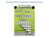 Number Forms Interactive Notebook Page and Practice Sheet