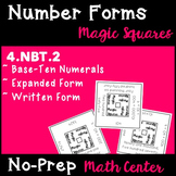 Number Forms Magic Squares