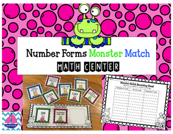 Number Forms Math Center *Monster Match*