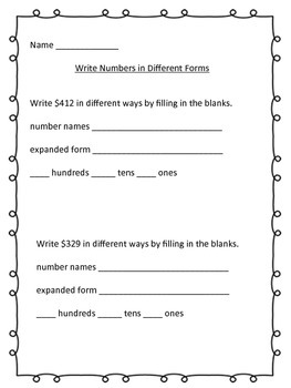 Number Forms Practice