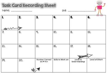Number Forms QR Task Cards