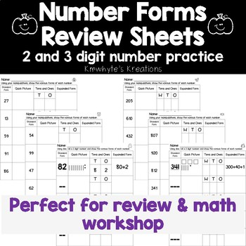 Number Forms Review Sheets