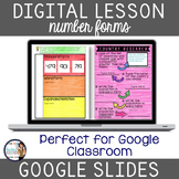 Number Forms: Standard, Expanded & Word Digital Interactiv