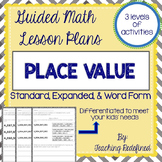 Guided Math Lesson Plans for Place Value: Standard, Expand