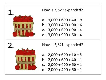Number Forms Standard to Expanded---Fall Theme