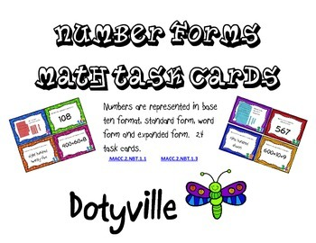 Number Forms Task Cards