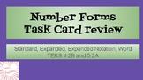 Number Forms Task Cards