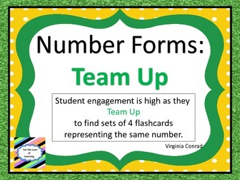 Number Forms:  Team Up