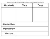 Number Forms: Word form, Standard Form, and Expanded Form