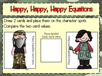 Number Forms and Comparing Numbers Duck Dynasty Style