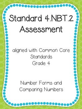 Number Forms/Comparing Numbers