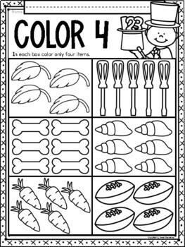 All About the NUMBER FOUR ~ NO PREP Number Sense Kindergarten Math Printables