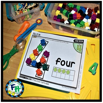 Number Four Activity Pack for Preschool