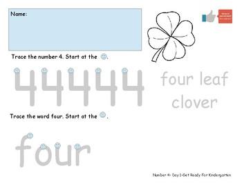 Number Four Worksheet Pack