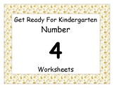 Number Four Worksheet Pack