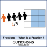 Number: Fractions 1 - What is a Fraction (whole lesson) + worksheet