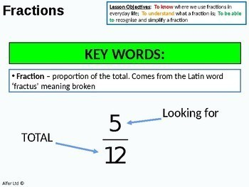 Number: Fractions 1 - What is a Fraction (+ worksheet)