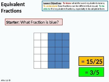 Number: Fractions 2 - Equivalent Fractions & Simplifying (+ worksheet)