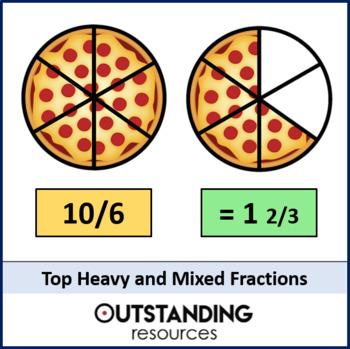 Number: Fractions 4 - Top heavy / Improper to Proper Fractions (inc. Mixed)
