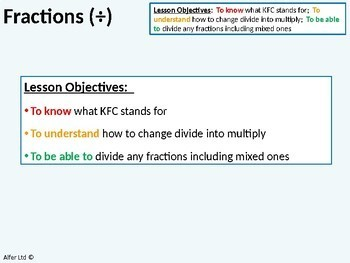 Number: Fractions 7 - Dividing (Division) Fractions inc. with Mixed Fractions