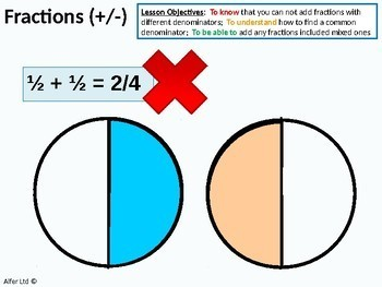 Number: Fractions 8 - Adding and Subtracting Fractions (inc. Mixed Fractions)