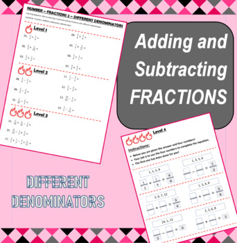 Number - Fractions 2 - Adding and Subtracting Fractions (Different Denominators)