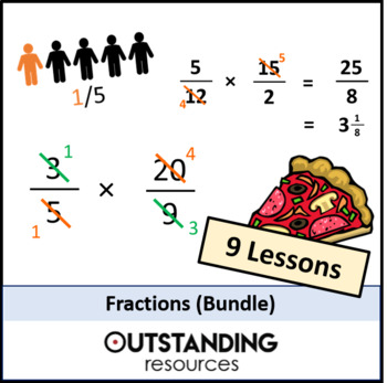 Number: Fractions Bundle (9 lessons ) + Resources