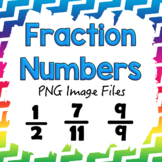 Number Fractions PNG Files