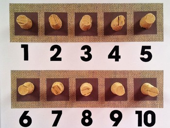 Number Frame Game with Burlap Background