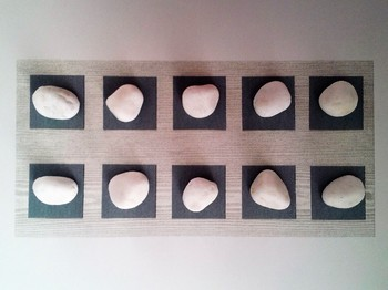 Number Frame Game with Grey Wood Grain Background