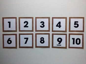 Number Frame Game with Leather Background