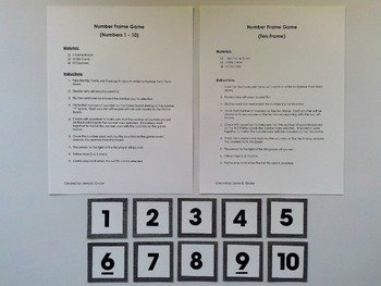 Number Frame Game with Metallic Wood Grain Background