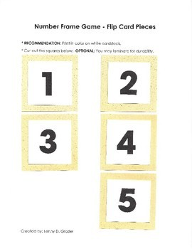 Number Frame Game with Sand Background
