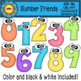 Number Friends Clip Art