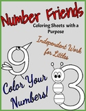 Number Friends Coloring Sheets