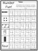 Number Fun Subitizing and Tracing Printable Worksheets in a PDF file.PreK-KDG.