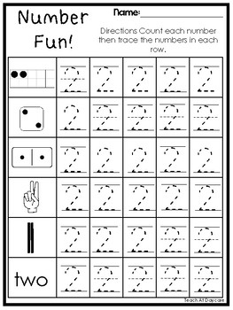number fun subitizing and tracing printable worksheets in a pdf file prek kdg. Black Bedroom Furniture Sets. Home Design Ideas