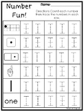 Number Fun Subitizing and Tracing Printable Worksheets in