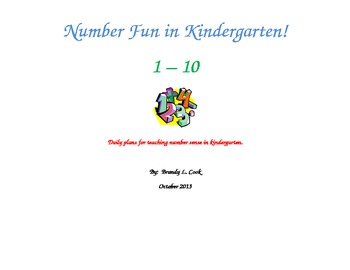 Number Fun in Kindergarten - Number Sense Activities - 1 - 5