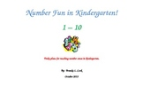 Number Fun in Kindergarten - Number Sense Activities - 1 - 5