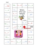 Number Game Board  0-10 Before After and Between with out number line