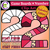 Number Game Boards Clip Art ♦ Valentine Edition