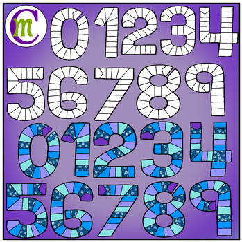 Number Game Boards Clip Art Winter Edition