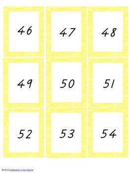 Number Game Cards